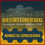 Questões Comentadas para Escrevente TJSP Concurso Vunesp 2021 | Normas da Corregedoria
