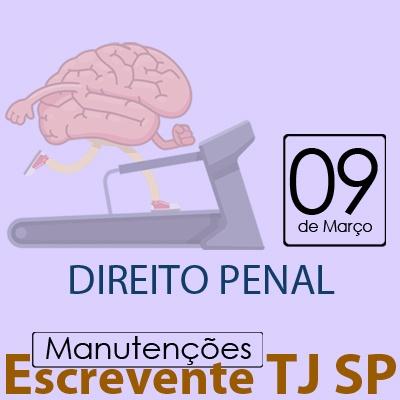 TJ SP Escrevente - Manutenção VUNESP Direito Penal