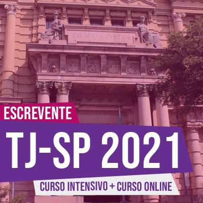 Concurso Escrevente TJSP 2021   COMBO Curso Online + Teoria e Testes ao Vivo